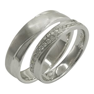 18K WHITE GOLD WEDDING BAND