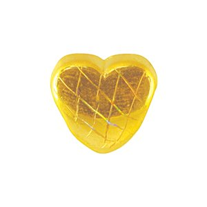 3D 999 PURE GOLD HEART-SHAPED CHARM