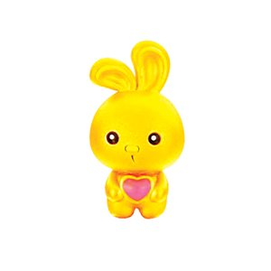 3D 999 PURE GOLD RABBIT CHARM