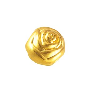 3D 999 PURE GOLD ROSE CHARM