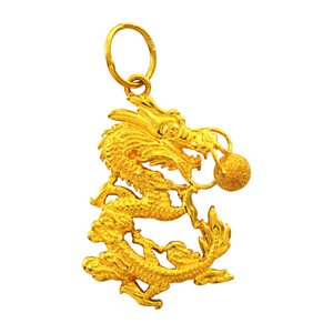 999 GOLD DRAGON PENDANT