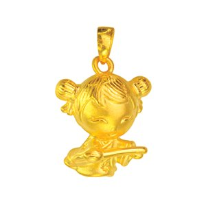 3D 999 PURE GOLD SWEETHEART CHARM