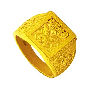 999 PURE GOLD SOARING AMBITION RING