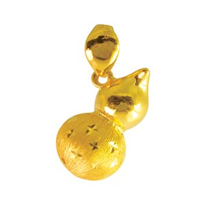 999 PURE GOLD GOURD PENDANT
