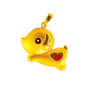 3D 999 PURE GOLD PUPPY CHARM