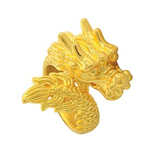 999 PURE GOLD ASCENDING DRAGON RING