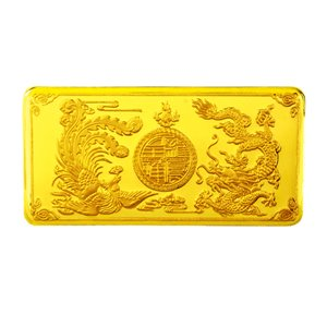Prosperous Union Gold Wafer 龙凤呈祥足金片