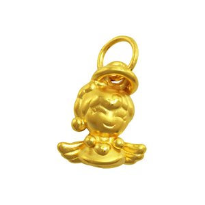 3D 999 PURE GOLD ANGEL & PRINCESS CHARM
