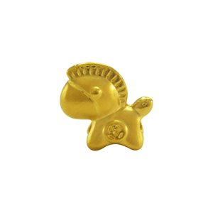 3D 999 PURE GOLD PONY CHARM