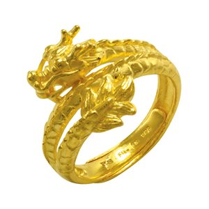 999 PURE GOLD DRAGON RING