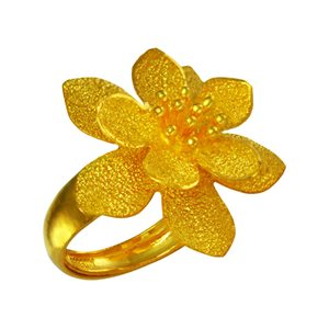 FLOWER BLOSSOM GOLD RING