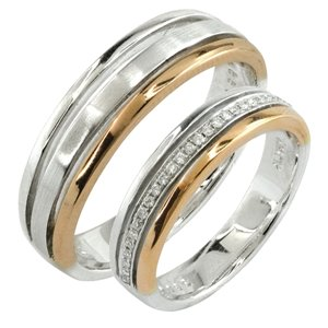 18K WHITE GOLD & ROSE GOLD WEDDING BAND