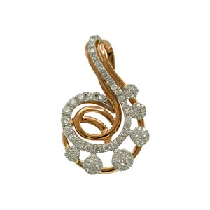 18K ROSE GOLD DIAMOND PENDANT