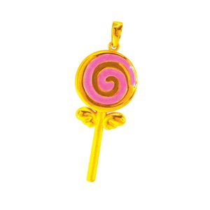 3D 999 PURE GOLD LOLLIPOP CHARM